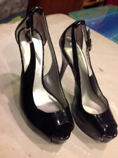Womens Worthington Patent Leather Open Toe Strappy High Heel Shoes Size 7M