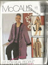 McCall's Unlined Jacket, Top & Pull-On Pants Pattern 42 - 44 B Uncut FF #2292