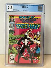What If... #4 (1989) CGC 9.8 White Pages Black Costume Symbiote Spider-Man Vol 2