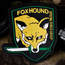 2Pcs Foxhound Patche Special Force Group Military Pvc Badge Patches