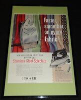 1955 Hoover Iron Framed 11x17 ORIGINAL Advertising Display