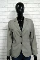 Giacca Donna ANTONIO FUSCO Taglia M Maglia Coat Jacket Blazer Lana Grigio Wool