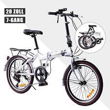 20 Zoll 7 Gang Klappfahrrad Klapprad Faltrad Camping faltbar Fahrrad citybike
