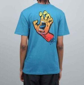 SANTA CRUZ - Fade Screaming Hand - Skateboard Tee Shirt - LARGE - INK BLUE