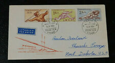 1959 Czechoslovakia Olympic games cover hurdles high jump javelin stamps
