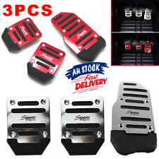 3x Clutch Vehicle Accelerator Non-slip Car Foot Pedal Cover Red/Silver Manual