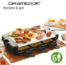 New Ceramicook Raclette-6-Person-Home Caravan- Grill-Portable