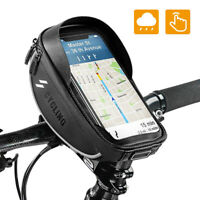 Bike Phone Mount Bag Front Frame Touch Screen Bicycle Handlebar Pouch Waterproof