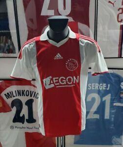 Maillot jersey shirt trikot maglia 2009 2010 suarez ajax Amsterdam vintage M 09