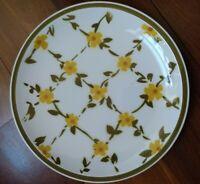 "Vintage JAPAN Ceramic Guild Esperanto Oven proof Handmade Plate 10.5"" Floral EUC"