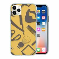 For Apple iPhone 11 PRO Silicone Case Hipster Barber Grooming - S1163
