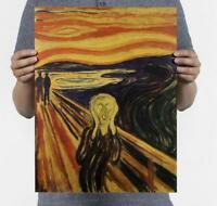 Bar decoratio Munch - Scream / Nostalgic Retro Oil Painting / Kraft Paper Poster
