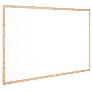 Wooden Frame Whiteboards Drywipe Office Notice Board Message Board 900 x 600 mm