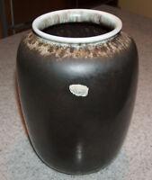 p7623 Carstens W Germany Tonnieshof Vase Mid Century Modern Lava Bulbous Vintage