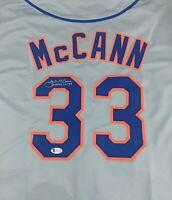 James McCann Signed Autographed Gray Baseball Jersey COA New York Mets Catcher