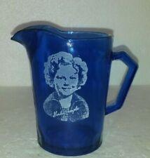 "Vintage Blue Depression Glass Shirley Temple Creamer 4 1/2"""