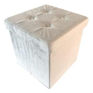 Pouf poggiapiedi sgabello decorativo contenitore in 3 misure e forme differenti