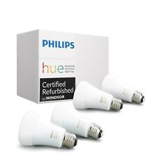 Philips Hue 3rd Gen White Ambiance A19 60W LED Smart 4 Bulb Kit