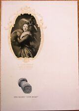 Champagne Leon Chandon 1910 Advertising Menu w/Femme au Manchon, Vigee-Lebrun