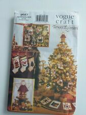 Vogue CRAFT PATTERN. 9687 CHRISTMAS COLLECTION