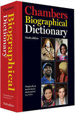 Chambers Biographical Dictionary, 9th edition, Chambers, Good Book