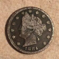 "^ 1884 Liberty ""V"" Nickel          ^^  VERY GOOD ^^        134 YRS OLD   3018"