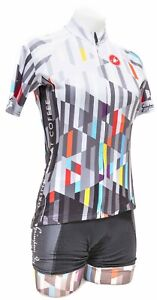 Castelli Grimpeur Bros Coffee Short Sleeve Cycling Kit Women SMALL XS Black Bike