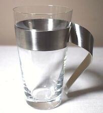 Villeroy & Boch New Wave 10 oz. Latte Glass Removeable Stainless Steel Handle