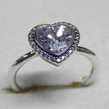 New Authentic Pandora Ring Sparkling Love Clear sz 56 CZ 190929CZ Box Included