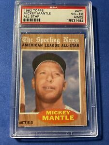 1962 Topps Mickey Mantle ALL-STAR #471 PSA 4 VGEX MC New York Yankees