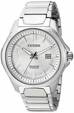 Citizen Eco-Drive Men's Titanium Silver-Tone 44mm Sport Watch AW1540-88A