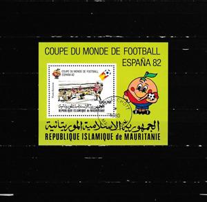Block-Fußball-WM 1982-Spanien - gestempelt-1980 aus -Mauretanien