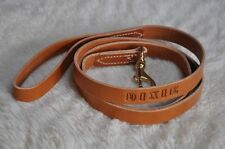 """Five Foot by One Inch Wide Leather Dog Leash Lead Personalized  5' by 1"""""""