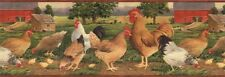 COUNTRY (CHICKEN FARM, ROOSTERS) Wallpaper Border AFR7106