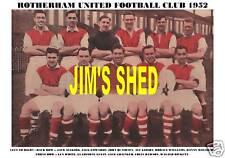 ROTHERHAM UNITED F.C.TEAM PRINT 1952 (WHITE/GUEST)