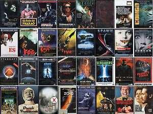 VHS Film-Action-Thriller-Horror-Science Fiction-Kult-FSK 0-16-Sammlung-Top Filme