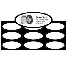 Black Border Imprintable Wedding Invitation Seals 27/pk