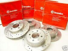 90-01 Acura Integra F+R Drilled/Slotted Rotors Free S&H
