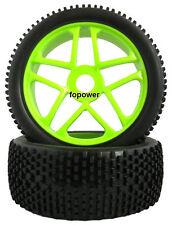 RC 4pcs Sponge Liner Tyre Tires & Wheel Rim Fit HSP 1:8 Off-Road Buggy 85G-802