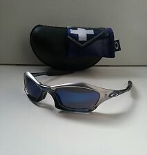 OAKLEY SPLICE FMJ Silver Crystal Black w/ ICE Iridium RARE Sunglasses plate xx
