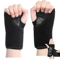 Black Neoprene Wrist Support Hand Brace Carpal Tunnel Splint-Arthritis Protector