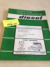 Revue Technique Automobile Diesel Camion DAF 2800 2805 , DKA DKDT DKT DKS 1160