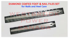 "6""+ 8"" SLIM DIAMOND DEB SKIN TOE NAIL CARE PODIATORY PEDICURE FOOT DRESSER FILES"