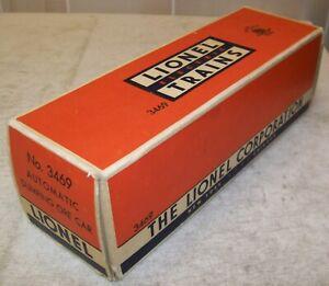 Lionel Postwar 3469 Ore Dump Car Original #3469-10 2-City BOX & LINER ONLY ~ VG+