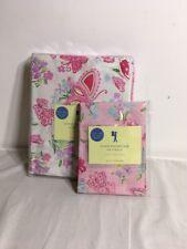 NEW Pottery Barn Kids OLIVIA BUTTERFLY Twin Duvet Cover Reversible 1 Pillowcase