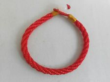 "Red STRING KABBALAH LUCKY BRACELET Against Evil Eye for Success 7""  jade bead"