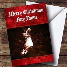 Basketball Slam Dunk Personalised Christmas Greetings Card