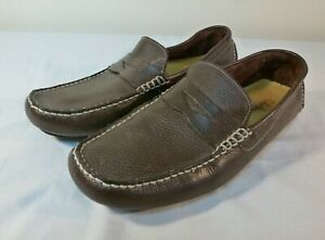 Cole Haan Howland Loafer Shoes Men's Brown Leather Slip On Driving Moc  US 9.5 M