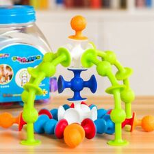 Squigz Little Suckers -33 Piece Silicone Building Toy Blocks Suction Cup Set New