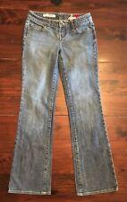 Express X2 Jeans Slim W10 Low Rise Boot Cut Women's Size 2 Medium Wash 26X29.5
